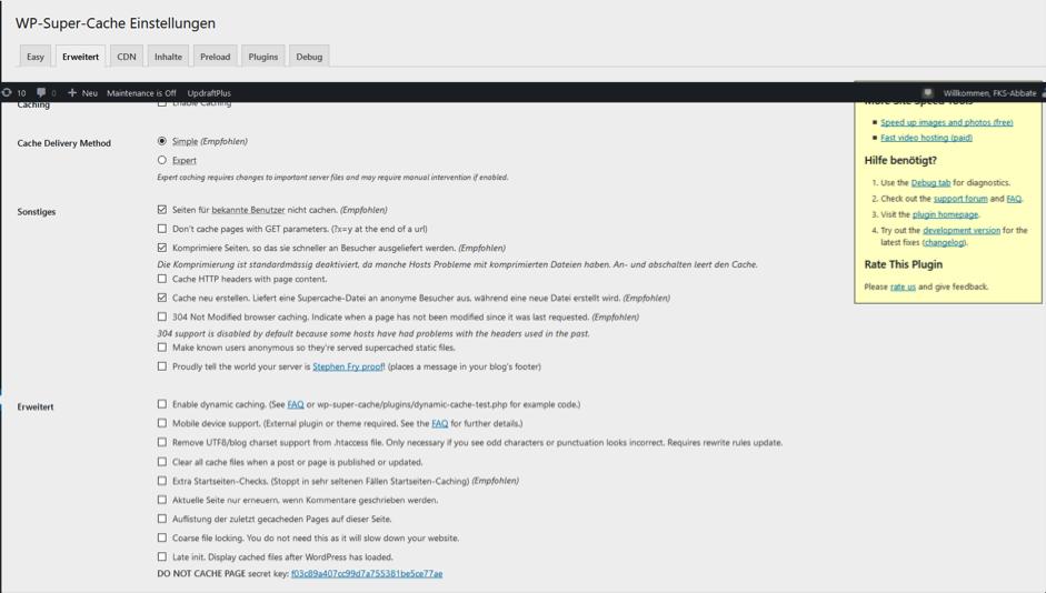 supercache Yoast WordPress Redaktionshelfer