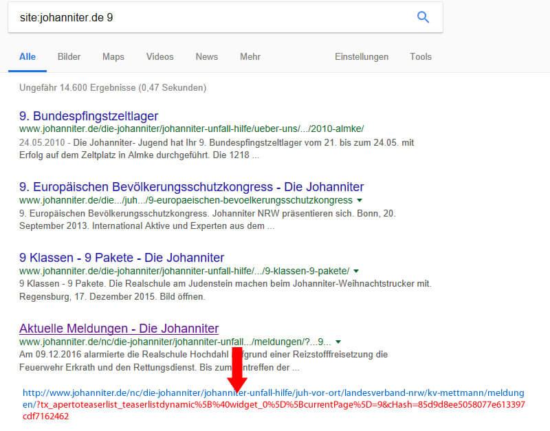 Weitere URLs mit der Site-Abfrage identifizieren