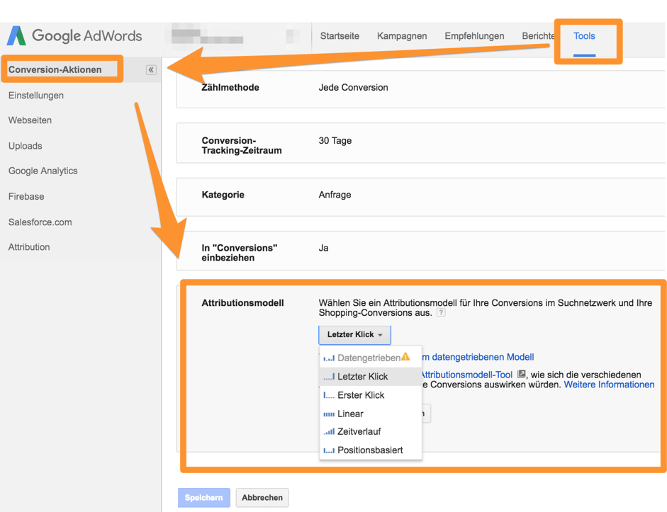 attributierung-in-google-adwords2 modellierung Attributionsmodellierung