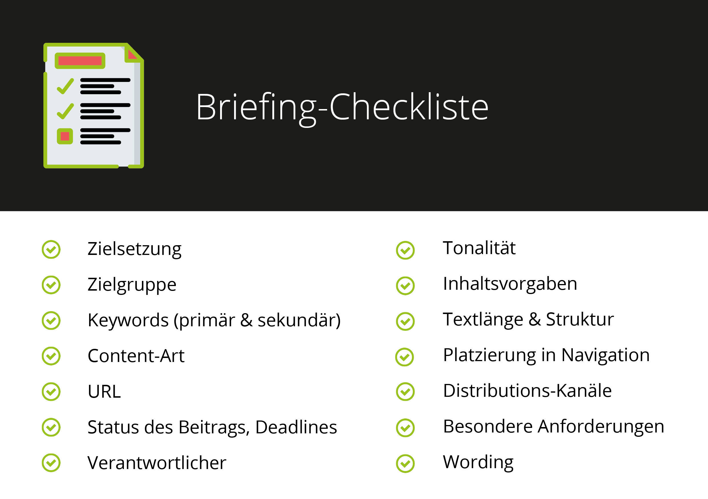 Briefing-Checkliste