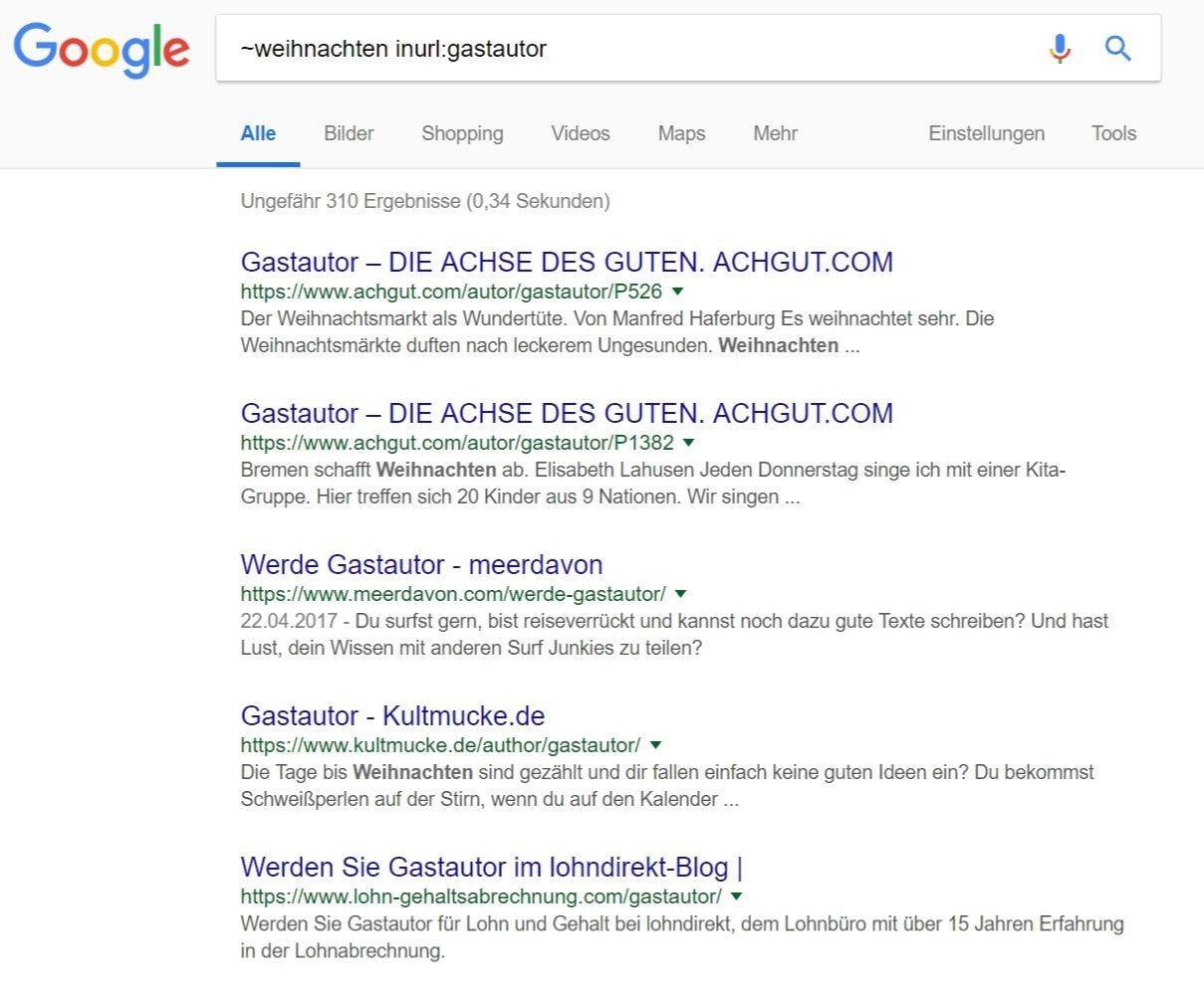 inurl2 suchbefehle inurl Google