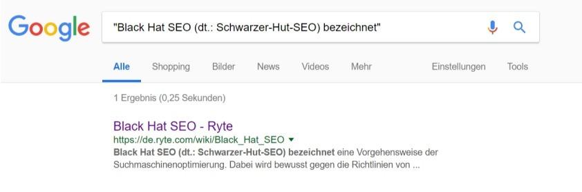 phrasensuche suchbefehle inurl Google