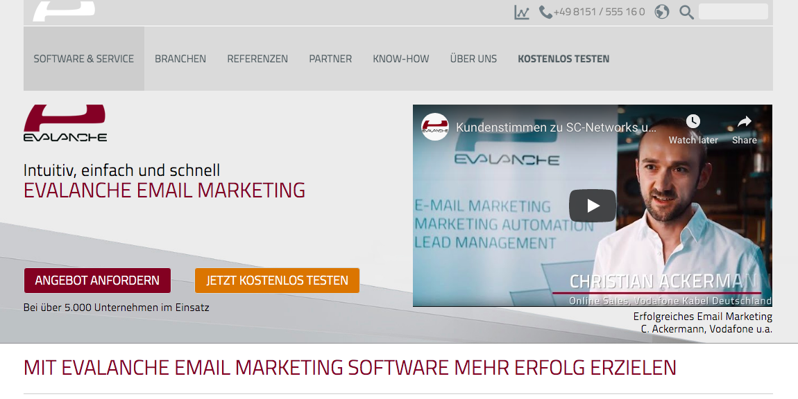 Evalanche Email Marketing E-mail