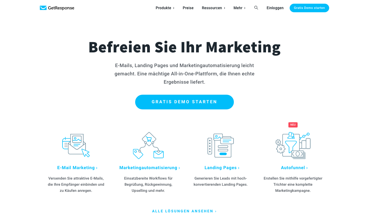 GetResponse-Home Email Marketing Courriel