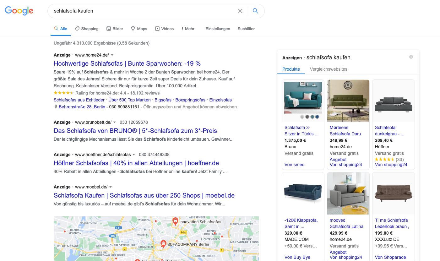 Google-serp-transaktionale-kw