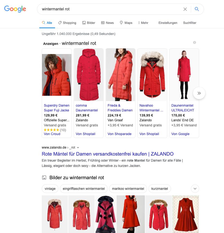 Google-serp-wintermantel-rot