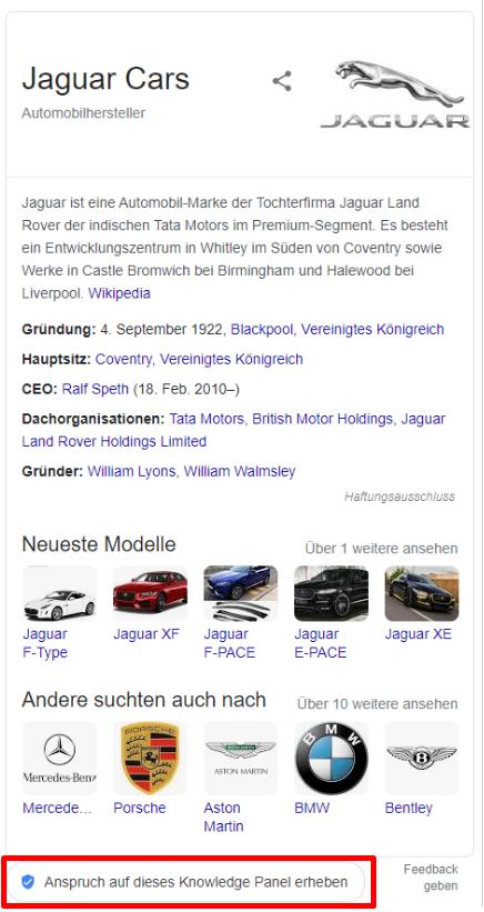 Abbildung-18-Knowledge-Panel-von-Jaguar-Cars-mit-Anspruch-Button